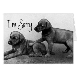 Cartes Je suis désolé - des amis de chiot