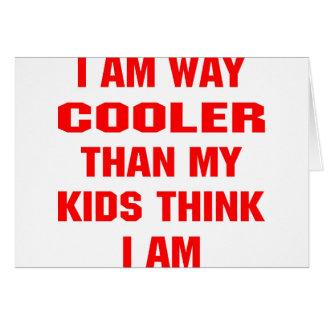 Cartes Je suis glacière de manière que mes enfants
