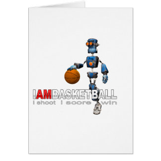Cartes Je suis robot de basket-ball