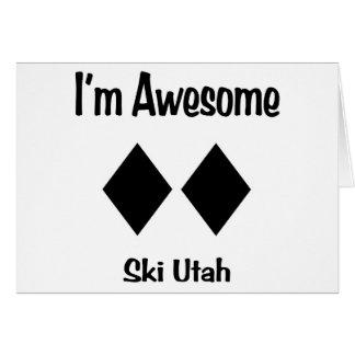 Cartes Je suis ski impressionnant Utah