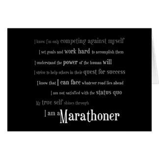 Cartes Je suis un Marathoner