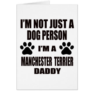 Cartes Je suis un papa de Manchester Terrier
