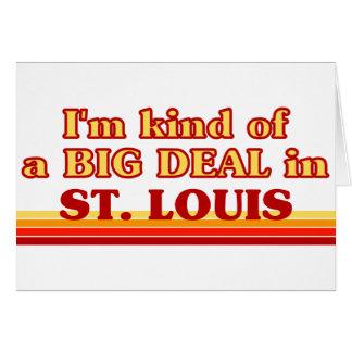 Cartes Je suis un peu une AFFAIRE à St Louis