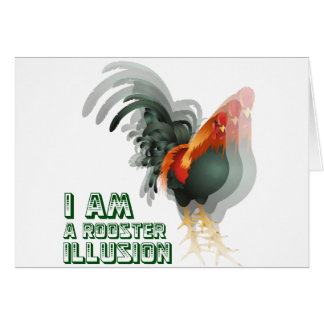 Cartes Je suis une illusion de coq