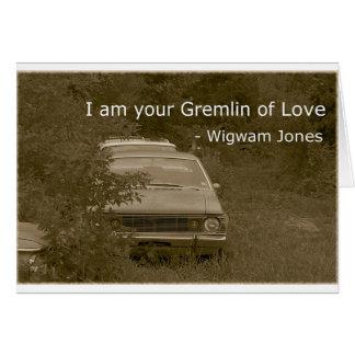 Cartes Je suis votre Gremlin de l'amour