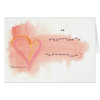 Cartes Je t'aime dans le code Morse