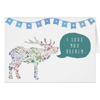 Cartes Je t'aime Deerly