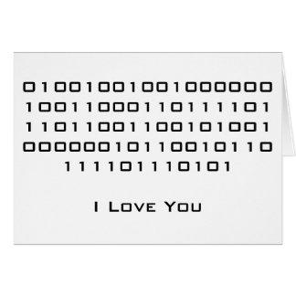 """Cartes """"Je t'aime"""" en code binaire"""