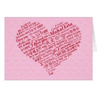 Cartes Je t'aime Saint-Valentin (rouge) de coeur
