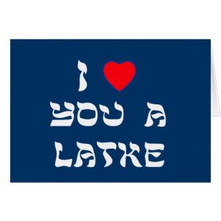 Cartes Je t'aime un Latke