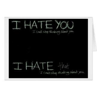 Cartes Je vous déteste…