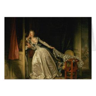 Cartes Jean-Honore Fragonard - le baiser volé -