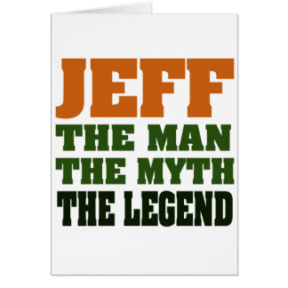 Cartes Jeff - l'homme, le mythe, la légende !