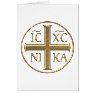 """Cartes Jésus-Christ """"à trois dimensions"""" d'or : Conquiert"""