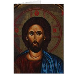 Cartes JÉSUS-CHRIST orthodoxe grec bizantin d'icône