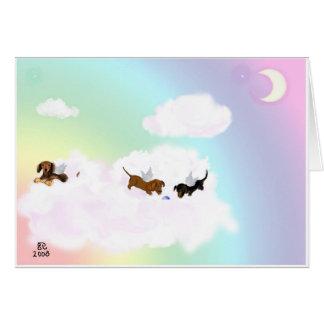 Cartes Jeu au-dessus du pont en arc-en-ciel