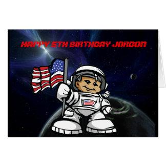 Cartes Jeune astronaute dans l'espace