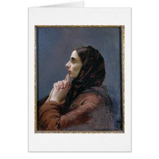 Cartes Jeune femme à la prière, 1879 (huile sur la toile)