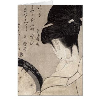Cartes Jeune femme appliquant le maquillage, c.1795-96