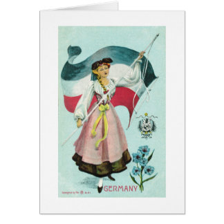 Cartes Jeune fille allemande - 1900's tôt