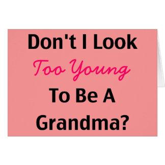 Cartes Jeune grand-maman (personnalisable)