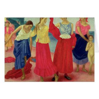 Cartes Jeunes femmes sur le Volga, 1915
