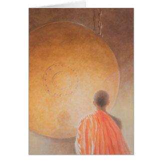 Cartes Jeunes moine bouddhiste et gong Bhutan 2010