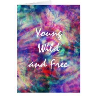 Cartes Jeunes sauvage de colorant tribal à la mode