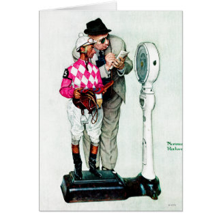 Cartes Jockey pesant dedans par Norman Rockwell