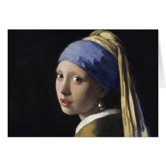 Cartes Johannes Vermeer - fille avec une boucle d'oreille