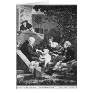 Cartes Joies d'être un père, c.1797