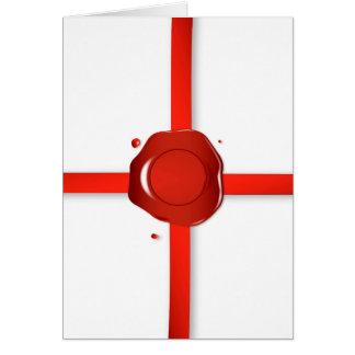 Cartes Joint de cire et ruban rouge