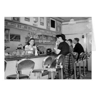 Cartes joint d'hamburger des années 1940