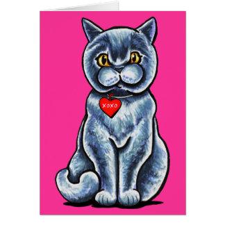 Cartes Joli Ronronnement-fect britannique Valentine de