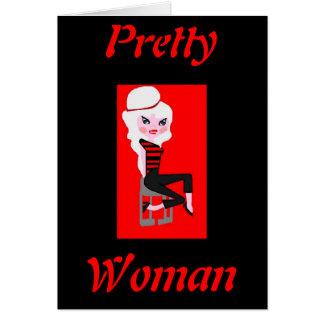 Cartes jolie femme