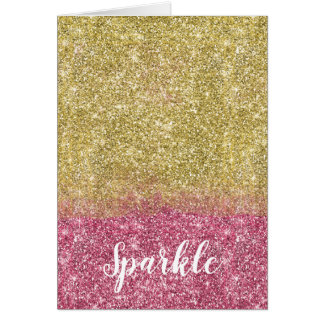 Cartes Jolies parties scintillantes de Faux de rose d'or
