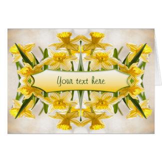 Cartes Jonquilles jaunes - Merci