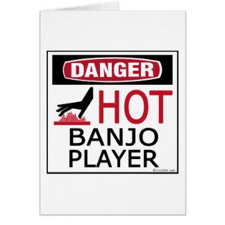 Cartes Joueur chaud de banjo