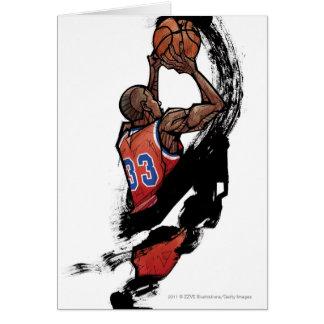 Cartes Joueur de basket tenant la boule