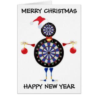 Cartes Joueur de dards de Joyeux Noël