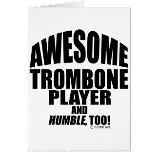 Cartes Joueur de trombone impressionnant