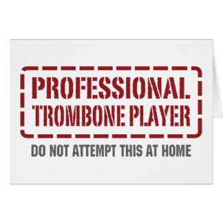 Cartes Joueur de trombone professionnel