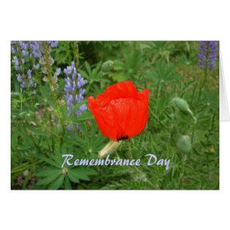 Cartes Jour canadien novembre de souvenir+11ème Pavot