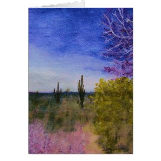 Cartes Jour dans le paysage de désert de l'Arizona dehors