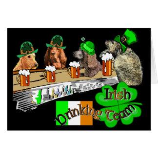 Cartes Jour de la Saint Patrick potable irlandais