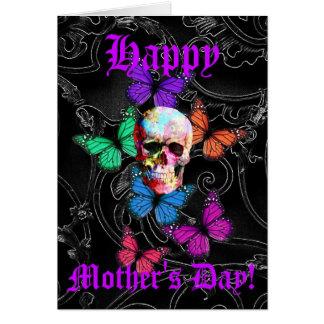 Cartes Jour de mères assez gothique de crâne