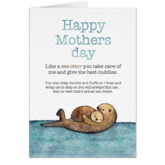 Cartes Jour de mères de loutre de mer