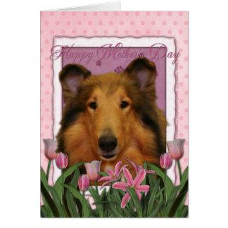 Cartes Jour de mères - tulipes roses - colley - Natalie