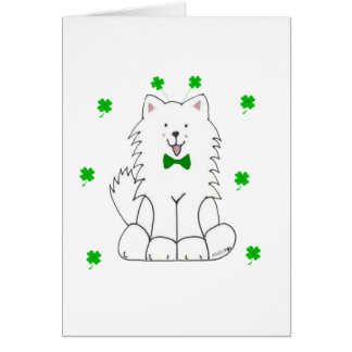 Cartes Jour de Patricks de saint de Samoyed