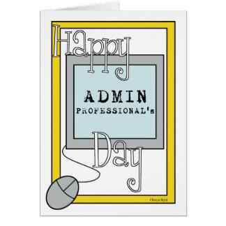 Cartes Jour de professionnels d'Admin avec l'ordinateur